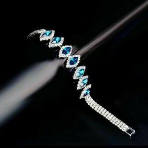 Jewelry - LUXURY BLUE CRYSTAL TENNIS BRACELET